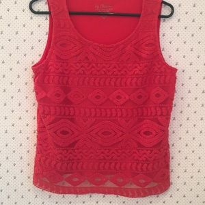 Chico's Sleeveless Embroidered Top